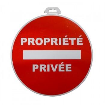 Disque autocollant en PVC propriété privée